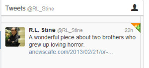 RL Bob Stine mentioned my story