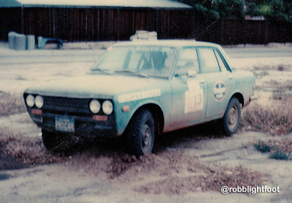 Photo of Robb SCCA rally car
